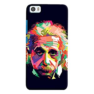 ColourCrust Xiaomi Mi5 Mobile Phone Back Cover With Einstein Low Poly Art - Durable Matte Finish Hard Plastic Slim Case