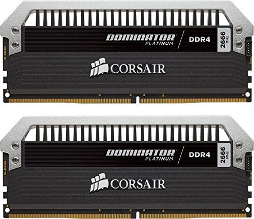 Corsair Dominator Platinum Series 16GB (2 x 8GB) DDR4 DRAM 3200MHz (PC4-25600) C16 Memory Kit