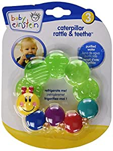 Baby Einstein Rattle and Teether Caterpillar, Colors May Vary (Discontinued by Manufacturer)