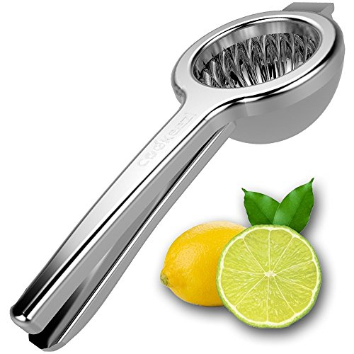 Best Everyday Premium Quality Squeezer-18/10 Stainless Steel Citrus Juicer-Manual Lemon Juice Press (Top Ten Juicers compare prices)