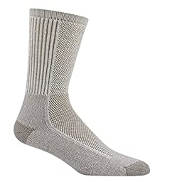 Wigwam Men\'s Cool-Lite Hiker Pro Crew Socks,Large,Khaki Brown.Khaki