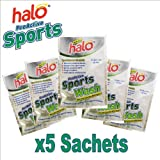 5 x Halo Proactive Sports Wash 60ml Sachets