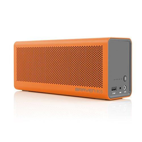 BRAVEN 805 HD tragbarer, aufladbarer Bluetooth Lautsprecher mit integriertem Akku (4.400mAh) zum Laden von Smartphones/Tablets - orange