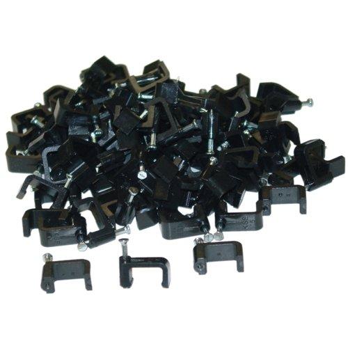 C&E Cne41350 Rg6 Dual Cable Clip (100 Pieces Per Bag), Black