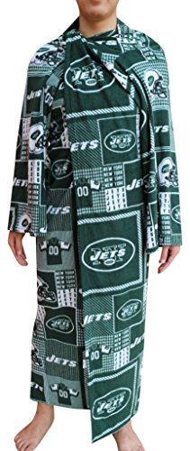 New York Jets NFL Computer Blanket folds into a Couch Pillow