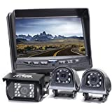 """7"""" TFT LCD Color Rear View Camera System With Side Cameras"""