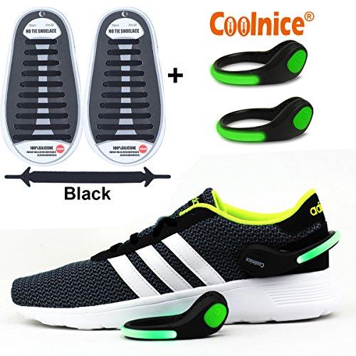 coolnice kein krawatte schn rsenkel elastisch f r kinder und erwachsene sport mit led schuh. Black Bedroom Furniture Sets. Home Design Ideas