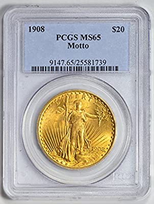 1908 Saint Gaudens Twenty Dollar MS65 PCGS