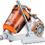 VonHaus 1200W Compact Bagless Vacuum Cleaner - 3L Capacity Cylinder HEPA Filtration with 5m Cord & 1.8m Hose