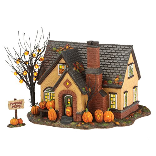 Department 56 Snow Village Halloween Lit, The Pumpkin House, 6.69-Inch (Ceramic Village Houses compare prices)