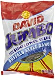 David Jumbo Roasted & Salted Sunflower Seeds, Buffalo Ranch Flavor, 6-Ounce Bags (Pack of 10)