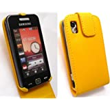 EMARTBUY SAMSUNG S5230 TOCCO LITE FLIP CASE COVER WITH BUILT IN PHONE HOLDER YELLOW + SCREEN PROTECTORby Emartbuy�