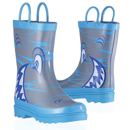 Shark In The Sea - Boy'S Rain Boots - Size 7-8 Toddler front-349288