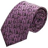The Joker Micro Print Neck Tie Standard (Color: Purple, Tamaño: Standard)