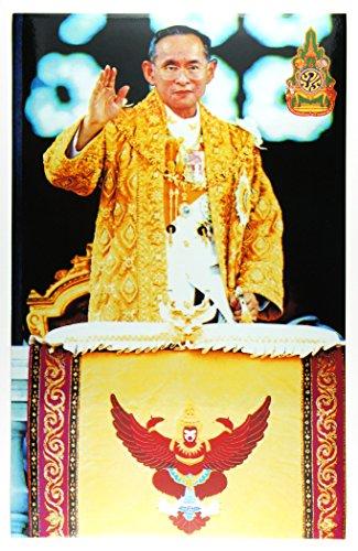 タイ国王のお姿ステッカー お立ち台で挙手されるお姿 26.5×17.0cm