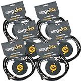 Elite Core EC-HEX10 Standard 10' Headphone Extension Cables (6 Pack) 1/4