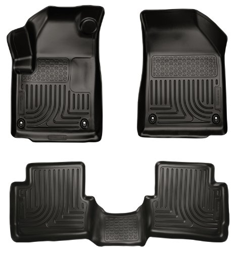 Husky Liners 99021 WeatherBeater Black Front and 2nd Seat Floor Liner