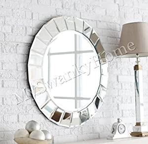 Extra large frameless venetian sunburst round for Extra large round mirror