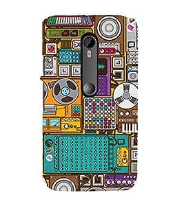 99Sublimation Music Player 3D Hard Polycarbonate Back Case Cover for Motorola Moto G3 :: G 3rd Gen :: G Gen 3 :: G Dual SIM 3rd Gen :: G3 Dual SIM