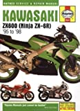 Kawasaki ZX-6R Ninja Fours (1995-98) Service and Repair Manual (Haynes Service and Repair Manuals) illustrated Edition by Coombs, Matthew published by Haynes Manuals Inc (1998) Matthew Coombs