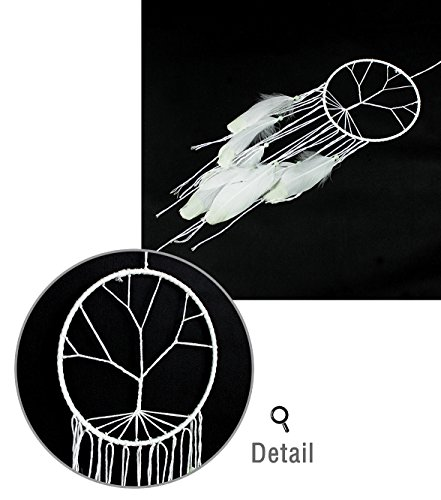 Feather Hanging Decor, Proboths Exquisite Munual Dream Catcher Luminous Feather Hanging Ornament for Wall and Car
