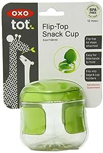OXO Tot - Vasito con tapa para aperitivos, color verde de Oxo
