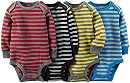 Carter\'s Baby Boys\' 4 Pack Striped Bodysuits (Baby) - Assorted - 9M