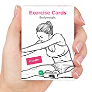 EXERCISE CARDS by WorkoutLabs: Visual Bodyweight Workout Cards - #1 Bestselling Premium Waterproof Fitness Flash Cards for at Home Workouts without Equipment (Women)