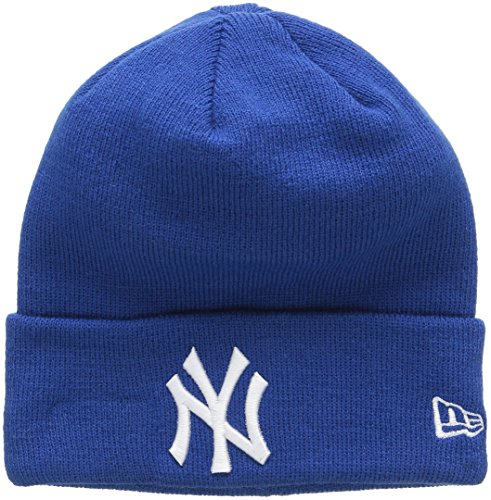 New Era Essential Cuff Neyyan Baz - Berretto Linea New York Yankees da uomo, colore Blu, taglia OSFA