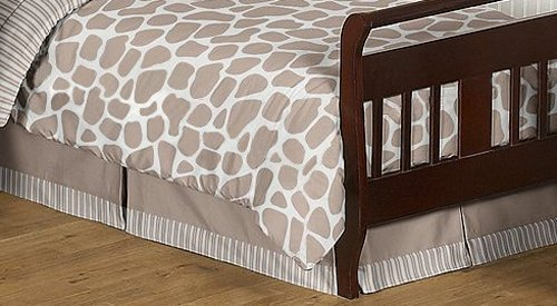 Giraffe Neutral Bed Skirt for Toddler Bedding Sets by JoJO Designs