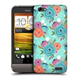 Head Case Designs Blue Floral Whimsical Flowers Protective Snap-on Hard Back Case Cover for HTC One V