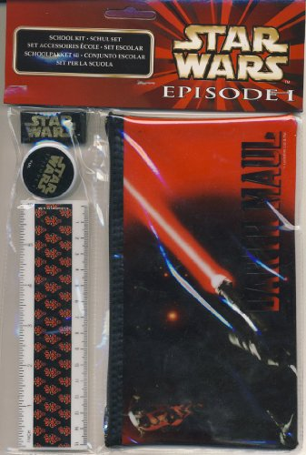 Star Wars Episode I Pencil Case & Stationary Set - Darth Maul