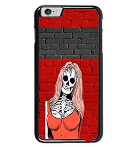 PRINTVISA Abstract Girl Skull Case Cover for Apple iPhone 6 Plus