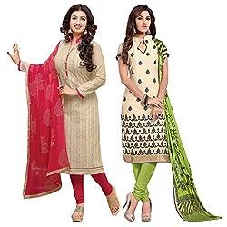 Ruaab Fashion Women Designer Dress Materials Combo(RF_AD_506)