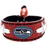 GameWear NFL Leather Classic Wristband – Seahawks by NYC Leather Factory Outlet