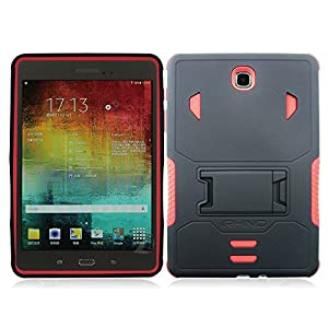 [iRhino] TM For Samsung galaxy Tab A 8 inch T350 Tablet Black-Red Heavy Duty rugged impact Hybrid Case cover with Build In Kickstand Protective Case from Rhino