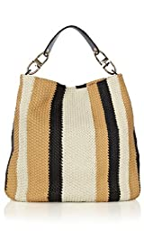 Interwoven Stripe Sling Handbag