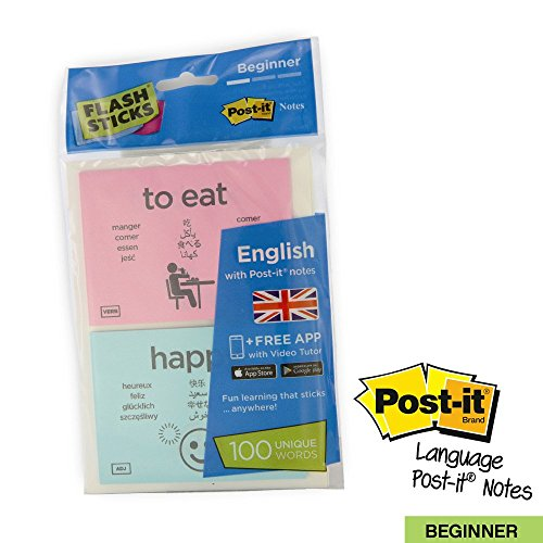 FlashSticks® English Flash Cards for Beginners | Best Way to Learn to Speak or Improve English | No Language Courses Needed | 100 Basic Vocabulary Study Cards Make Learning a Game | Free Online App Helps With Pronunciation | Perfect For Adults & Kids (Your Child Can Speak Spanish compare prices)