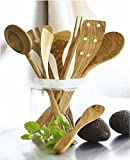 Scanwood Olive Wood Utensil (Spatula Spoon Set 12 Inch)