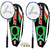 Guru Kevler(Composit) BR02 COMBO-02 Badminton Racket Set Pack Of Two With Two Cover & 3 Shuttlecock Size: 27 Inch