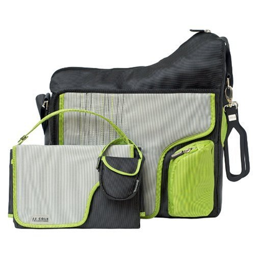 jj cole collections system diaper bag green stitch diaper bags babies. Black Bedroom Furniture Sets. Home Design Ideas