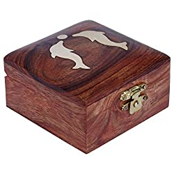 ITOS365 Handmade Wooden Jewellery Box for Women Jewel Organizer Dophin