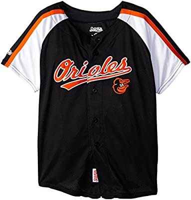 MLB Boy's Colorblocked Button Down Jersey