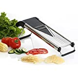 Mandoline Slicer, Nuvita V Blade Mandoline Slicer Heavy Duty Stainless Steel - Includes 5 Different Blades