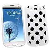 Samrick Coque de protection hydrogel pour Samsung Galaxy S3 i9300/LTE 4G avec film de protection��cran et chiffon de nettoyage en microfibre Motifs � pois