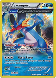 Amazon.com: Pokemon Primal Clash Swampert - 36/160 - Full Art Holo