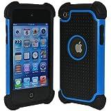 ユニークなデザイン iPod Touch4 第4世代 ケース/カバー ipod touch 4用シリコンケース  ブルー  並行輸入品