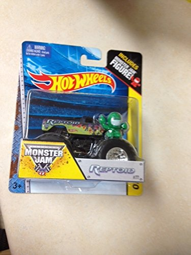 Monster Jam REPTOID #77 includes monster jam figure hot wheels off-road