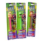 The Muppets Pez Candy Dispenser Collection - Featuring Kermit, Miss Piggy, and Fonzi Bear - Three (3) Dispensers in All, Each with 3 Rolls of Pez Candy (Raspberry, Raspberry Lemon and Grape)