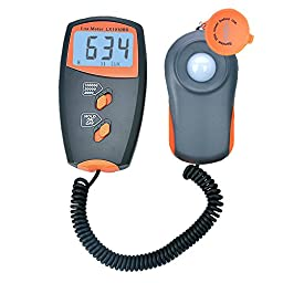 Leaton® Digital Luxmeter Light Meter with LCD Display(Range: 0 - 100,000 Lux, Operating temperature: 32-122 degrees ) (9V Battery Included)